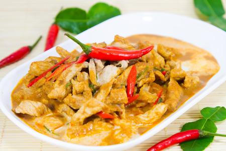 Thailand Restaurant, Curry pork, coconut milk