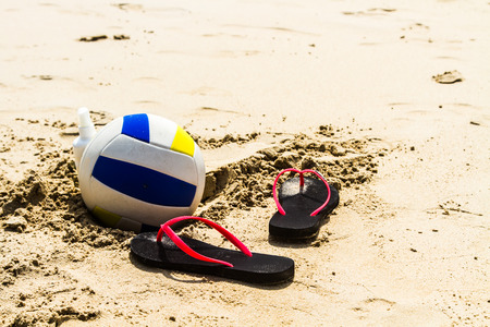 Volleyball and beach holidays. photo