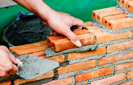 Construction using brick photo