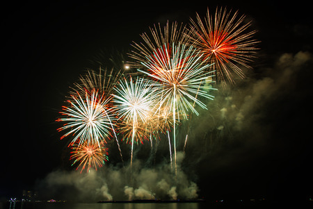Fireworks and celebrate the New Year festival.