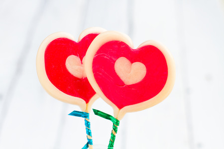 sugarplum: Candy hearts with loving and sweet. And the Valentine lovers. Stock Photo