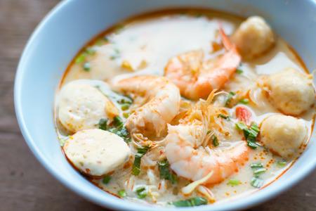 Noodles Shrimp Soup