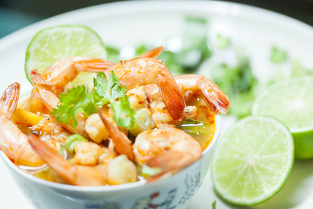 favorite soup: Tom Yum Goong soup famous in Thailand.