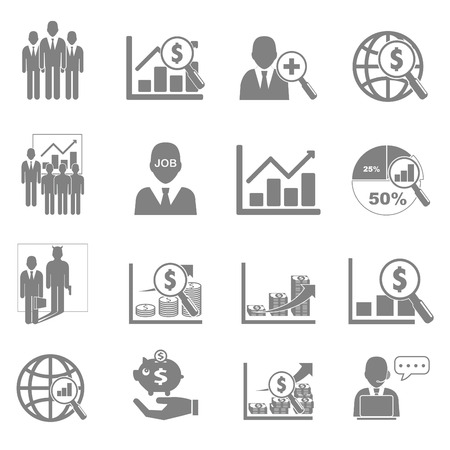 financial performance: Vector icon set business and financial performance.