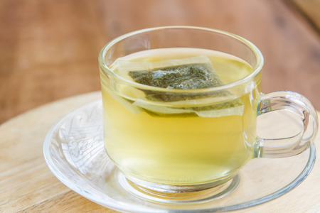 Tea in clear glass and is good for health. Stock Photo