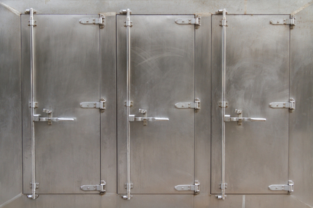 A large freezer for industrial or commercial kitchens. Stock Photo