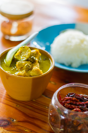 favorite soup: Thailand Green Curry dishes are very popular with Thailand delicious herbs that are beneficial to the body.