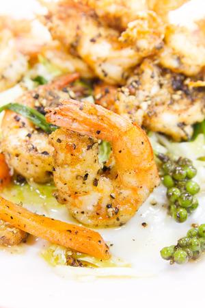 fresh taste: Shrimp, fresh food made by Thailand seasoned black pepper taste popular.