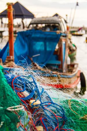 Die Fischerei ist die Existenzgrundlage der Einheimischen. Lizenzfreie Bilder