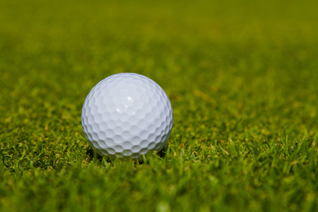 caddie: Golf ball in the grass is a sport that is popular worldwide.