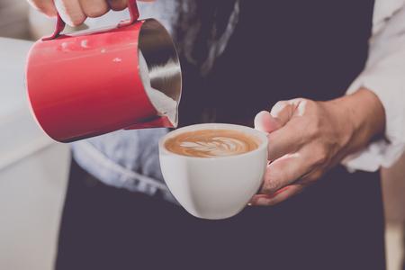 Coffee Shop Geschäft Und Baristas Kaffee