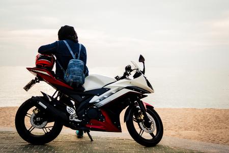 Frauen und Motorräder Lizenzfreie Bilder