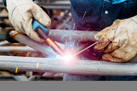 Welding workers are skilled in the industry and are skilled