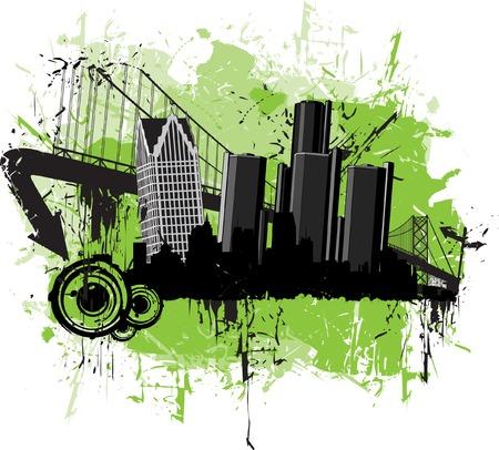 Grunge Detroit Stock Vector - 6749766