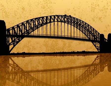 Sydney Harbour Bridge Silueta Foto de archivo - 12157828