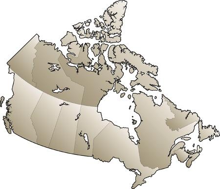 Kaart van Canada Stock Illustratie
