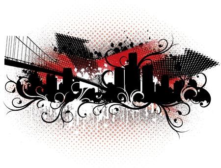 Detroit Grunge Scene Illustration
