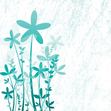 icy: Floral Background Illustration