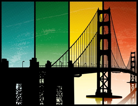 Golden Gate Bridge Stock Vector - 12157806
