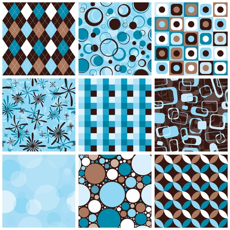 checkers: Seamless Patterns Illustration