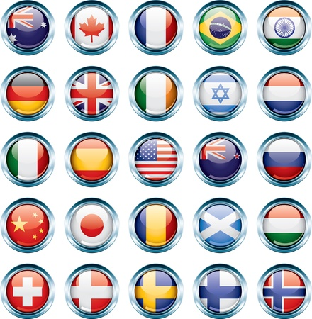 Country Flag Icons Stock Vector - 12157854