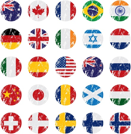 Country Flag Icons Vectores