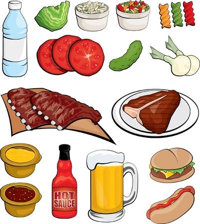 barbecue ribs: Food Illustrations