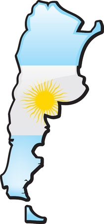 map of argentina: Artisitc Map Of Argentina