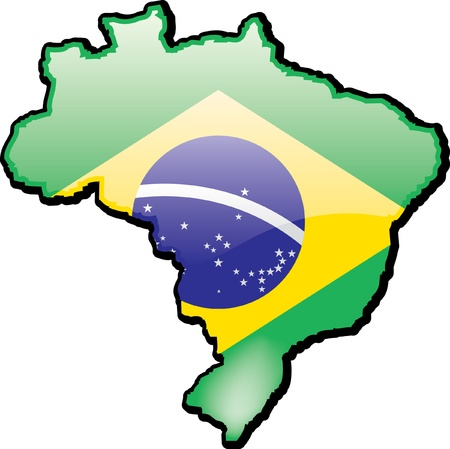 Artisitc Map Of Brazil