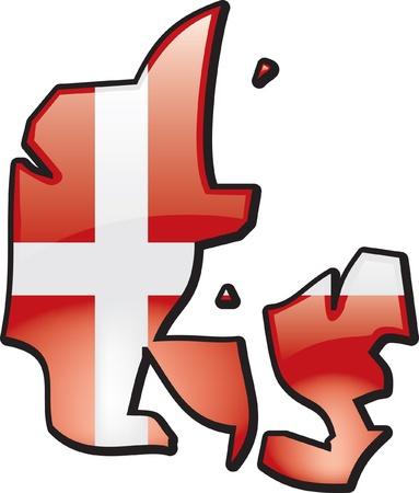 Artisitc kaart van Denemarken