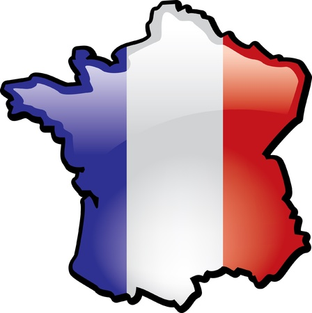 Artisitc Map Of France Illustration