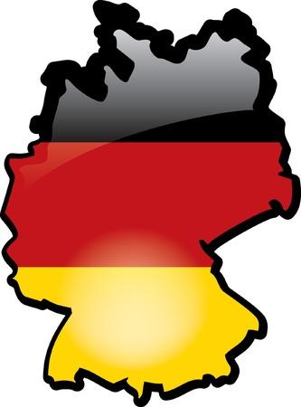 Artisitc Kaart Van Duitsland Stock Illustratie