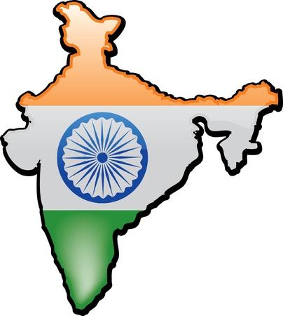 artisitc: Artisitc Map Of India
