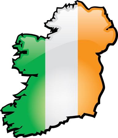 Artisitc kaart van Ierland Stock Illustratie