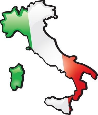 Artisitc Kaart Van Italië Stockfoto - 12157847