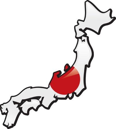 Artisitc Map Of Japan