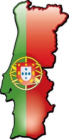 Artisitc kaart van Portugal Stockfoto - 12157846