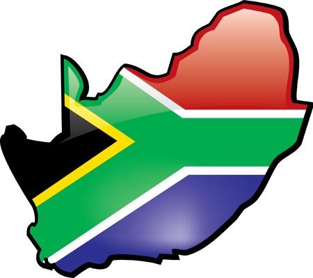 Artisitc Kaart Van Zuid-Afrika Stockfoto - 12157843