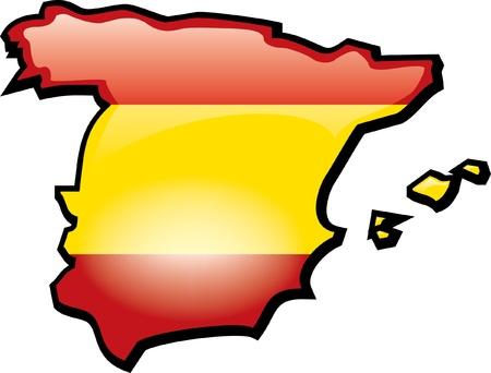 Artisitc Kaart Van Spanje