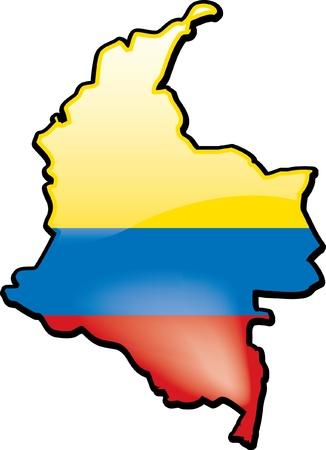 Colombia Иллюстрация