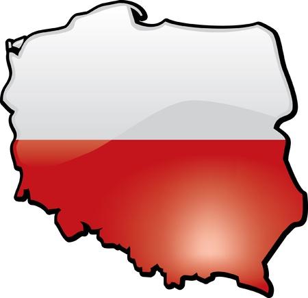 Polen Stock Illustratie