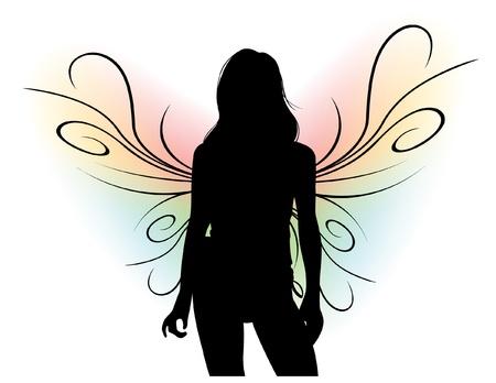 animal silhouette: Female Silhouette
