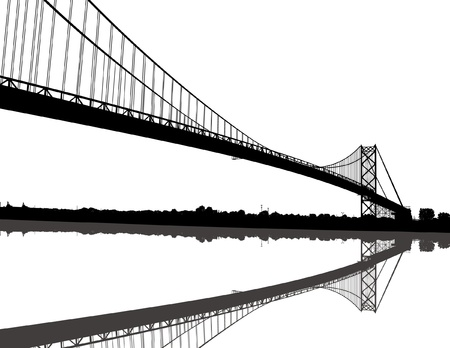 Ambassador Bridge Stock Illustratie