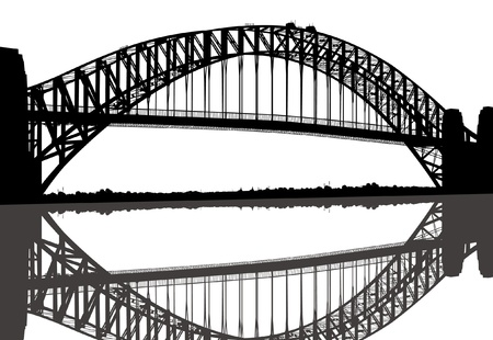 Sydney Harbour Bridge Stock Vector - 12474768