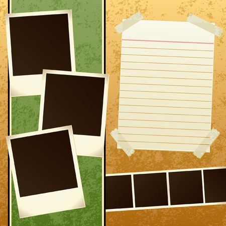 Scrapbook Template Stock Vector - 12474799