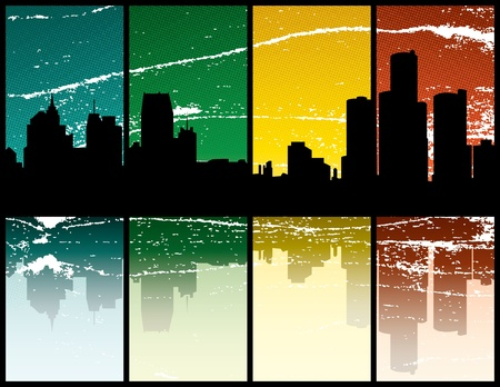 Detroit Michigan 向量圖像