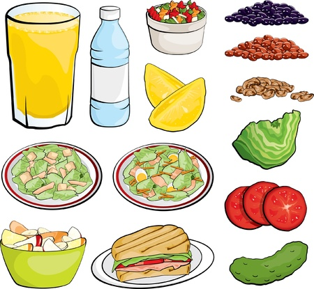 Food Illustrations Vector