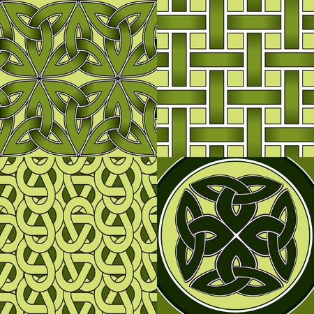 Celtic Seamless Patterns Stock Vector - 12474764