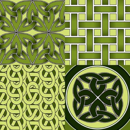 Naadloze: Keltische Seamless Patterns Stock Illustratie
