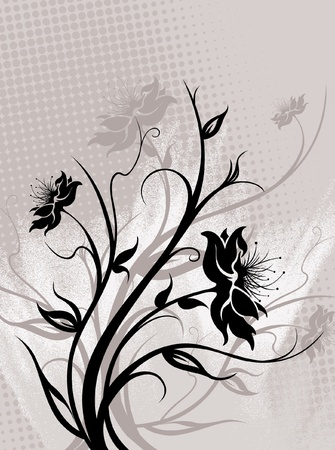 Floral Background Illustration